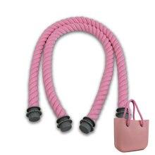 New blau pink 1 para lange größe weichen baumwollfaden seil griffe für Obag damentaschen hanf schulter handtasche O tasche seil griff
