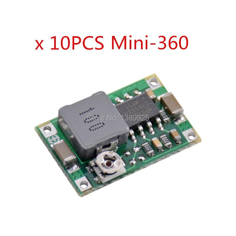 10pcs Mini360 Mini-360 DC-DC HM Buck Converter Step Down Power Supply Module 4.75-23V To 1-17V 340KHz Ultra-small For Arduino