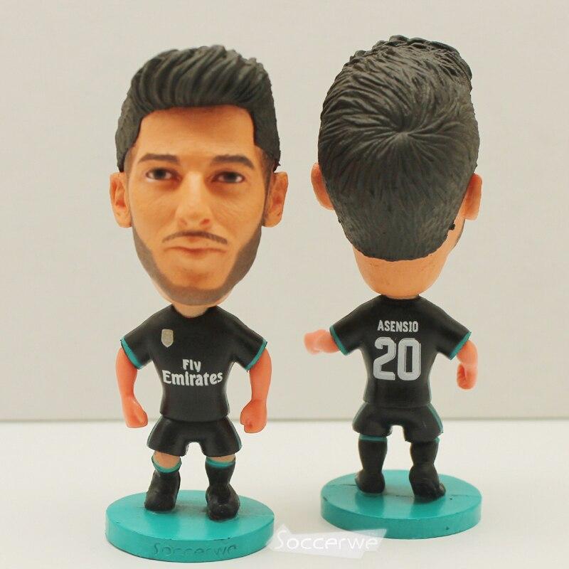 Soccer Player Star 20# ASENSIO (RM-BLACK-2018) Away 2.5 Action Dolls Figurine