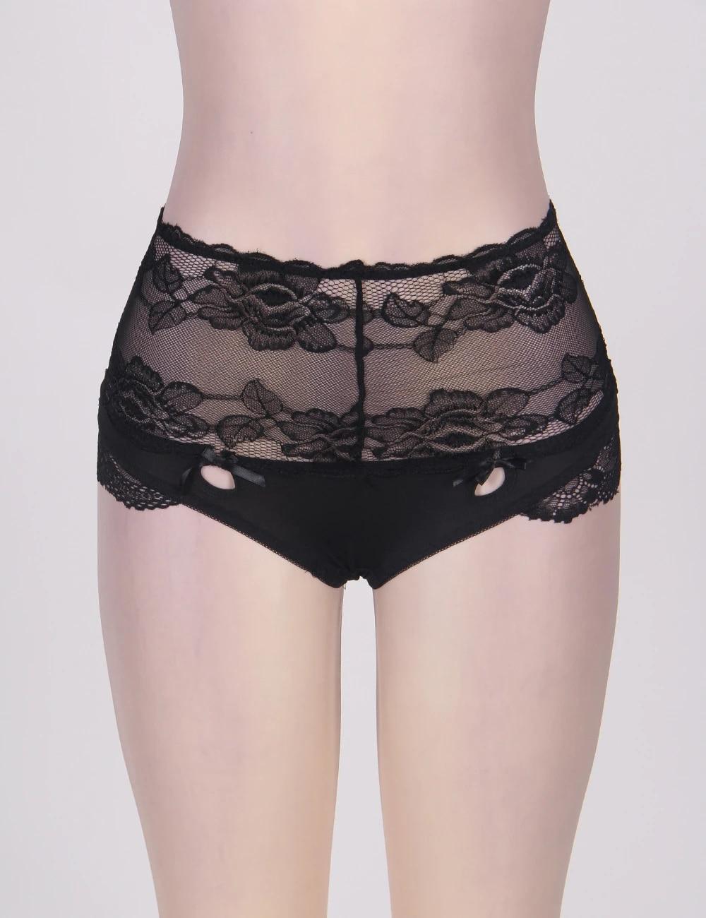 culotte haute femme grande taille coloris noir taille XXL