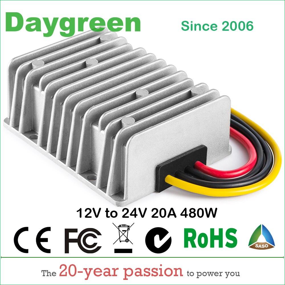 12V TO 24V 15A 20A (12VDC TO 24VDC 15AMP 20AMP) STEP UP BOOST DC DC REGULATOR 15 AMP 360WATT 20A 480W Daygreen Quality Product
