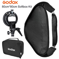 GODOX S Type Bowens Mount Bracket + 80 x 80cm 32 Fold Portable Photo Studio Softbox Diffuser bag Kit for Flash Speedlite Dish