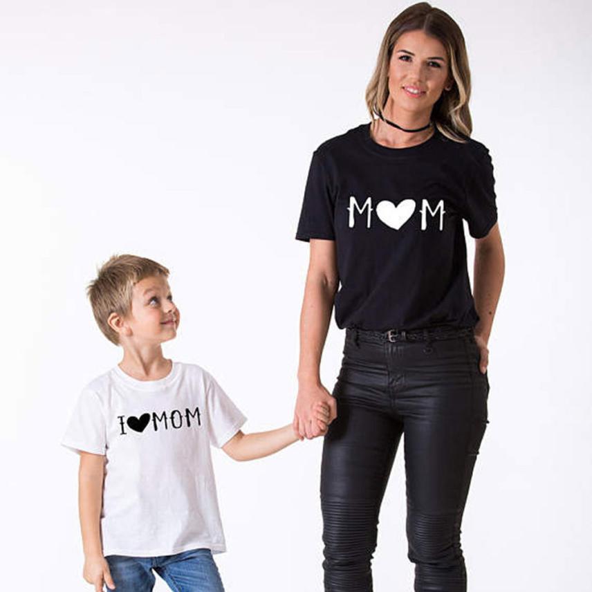 «Мама и я» для маленьких детей Обувь для мальчиков Обувь для девочек короткий рукав футболки с надписями блузка семейная одежда 0402