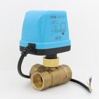 3 way motorized ball valve 12v DC electric ball valve electric actuator brass ball valve 3 Wire DN15 DN20 DN25 DN32 DN40