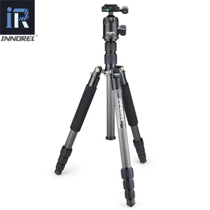 Image 2 - RT40C プロのカーボンファイバー三脚一眼レフカメラ軽量スタンド高品質胃袋移動プロ tripode 164 センチメートル最大