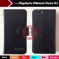 Moda botão magnético minimalista ultra-fino garra telefone coldre de couro caso capa protetora para gigabyte gsmart guru g1