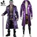 Disfraces de Halloween para adultos Harley Quinn Comando Suicida Comando Suicida Joker cosplay chaqueta de cuero púrpura de lujo traje