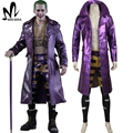 Halloween costumes for adult Harley Quinn Suicide Squad Joker cosplay costume purple leather jacket fancy Suicide Squad costume