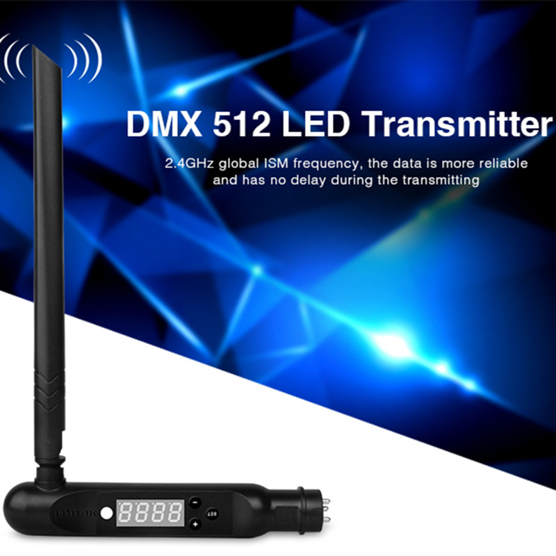 2.4G ISM wireless signal connect controller 3pin XLR transmitter DMX512 Receiver adapter for Disco LED Stage PAR Effect Lights цена
