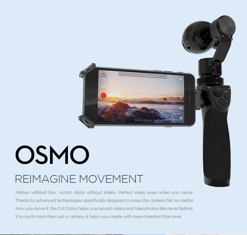 DJI Osmo Handheld 3-Axles Gimbal Stabilizer with 4k Camera