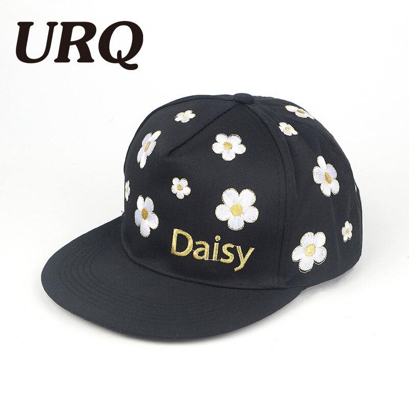 Кости snapback шапки унисекс вышивка цветочные Весна Хип-Хоп мода Бренд человек женщины Хип-Хоп повернет вспять Кепка Gorras новое качество