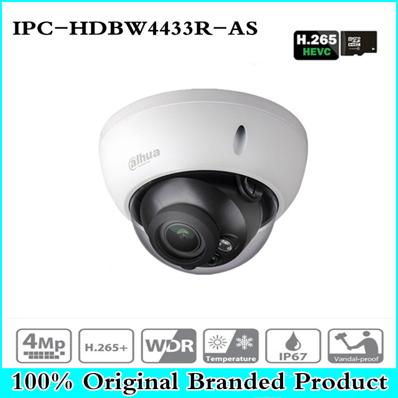 DH IPC-HDBW4433R-AS 4MP CCTV IP Camera Support IK10 IP67 Audio in/out &Alarm Port PoE Camera IR 30m WDR Security with dahua logo ahua 4mp cctv ip camera ipc hdbw4433r as support ik10 ip67 audio