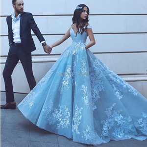 Image 3 - Elegant Off the Shoulder Ball Gown Satin Prom Dresses 2021 robe de soiree Lace Appliques Prom Evening Gown Quinceanera Gowns