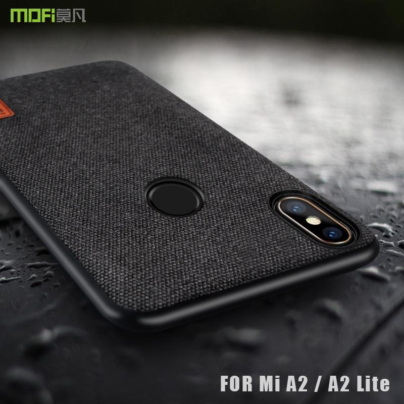 Mi A2 lite case cover MOFI For Xiaomi Mi A2 Back Fabrics Business Case for xiaomi miA2 lite Silicone edge case Full Cover Case