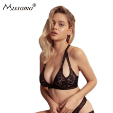 Missomo Floral Lace Push Up Two Straps No Rims Long Line Ultra-thin Bra