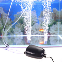 2 Air Bubble Disk Stone Aerator Aquarium Fish Tank Pond Pump Hydroponic Oxy