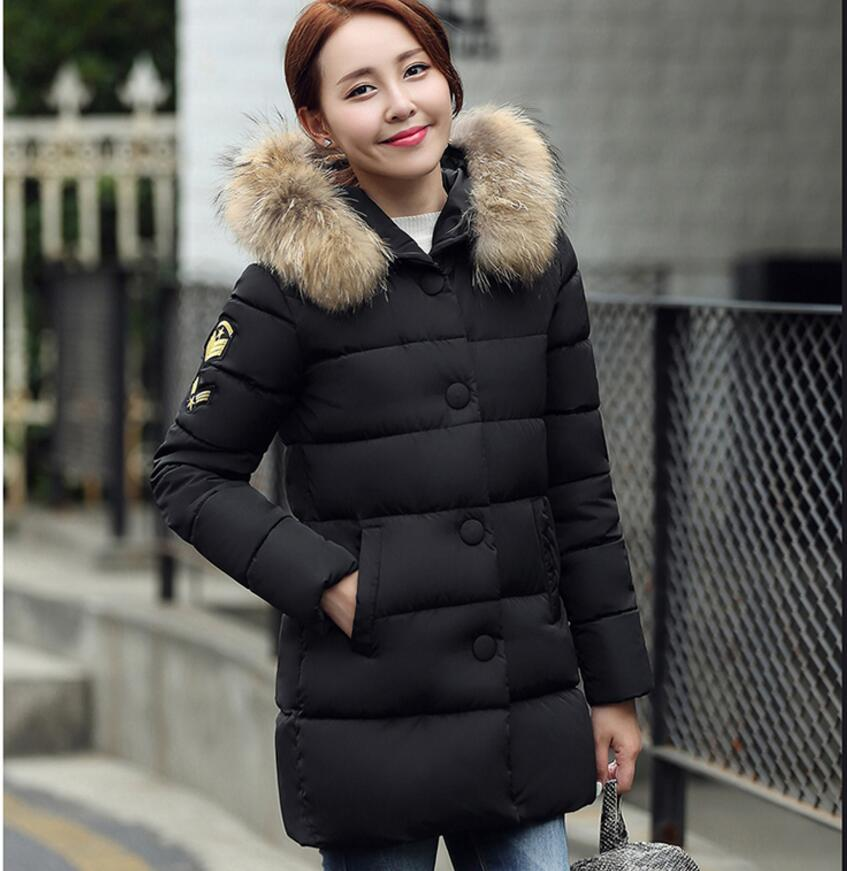Low price Winter down cotton-padded coat female parkas thickening wadded jacket plus size outerwear artificial fur collar parkas for women winter army green wadded coat large fur collar thickening cotton padded jacket outerwear female snow wear brand