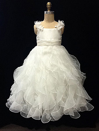 free shipping first communion   dresses   for   girls   white organza ruffles   Flower     Girl     Dresses   2015 vestido de festa de casamento