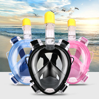 One Piece Full Face Snorkeling Mask All Dry Diving Mask For Swimming With Kids Size 3