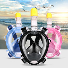 2018 new Underwater Scuba Anti Fog Full Face Diving Mask Snorkeling Set Respiratory masks Safe and waterproof D1355HY(China)