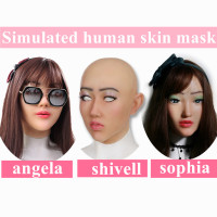 Artificial Human Skin Face Realistic Silicone breast forms Crossdresser Transgender Cosplay Disfigurement Repair Disguise Self