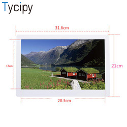 Tycipy Digital Photo Frame 13 LCD HD LED Electronic Screen Photo Frame with Remote Control for Music Mp3 Movie Playe Mp4