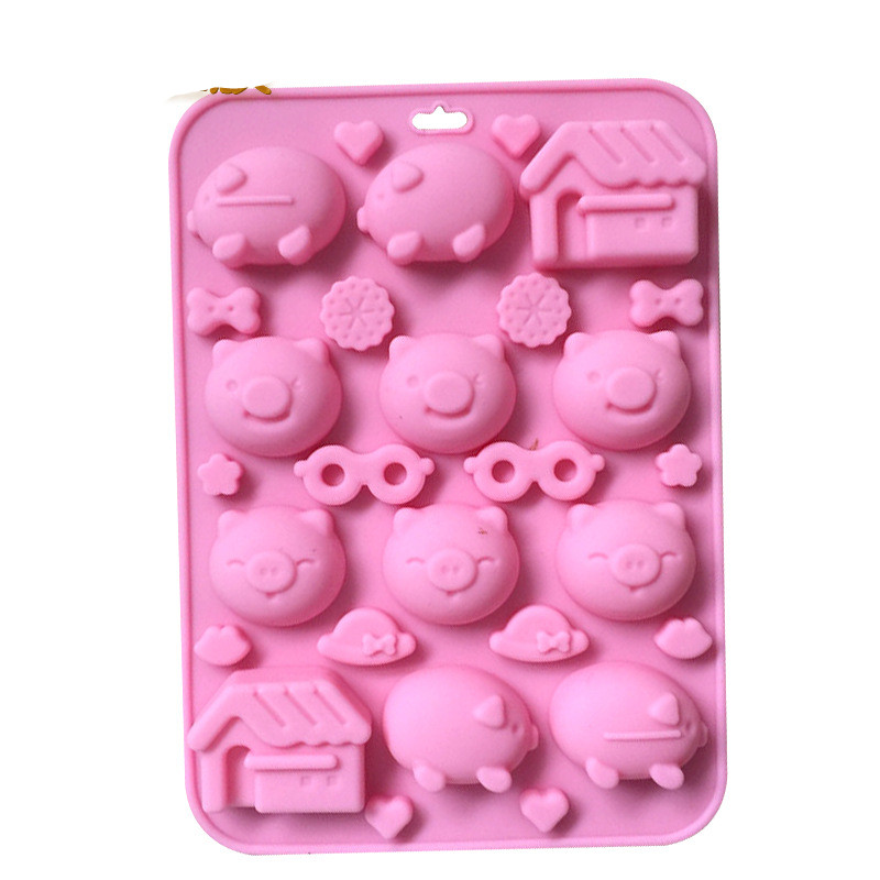 Cake Molds 6 Even Maotou Silicone Soap Mold Diy Multi Expression Xg004 Maotou