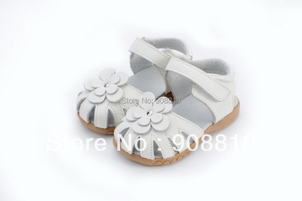 2019 novas meninas de couro genuino sandalias no verao walker sapatos com flores antiderrapante sola criancas