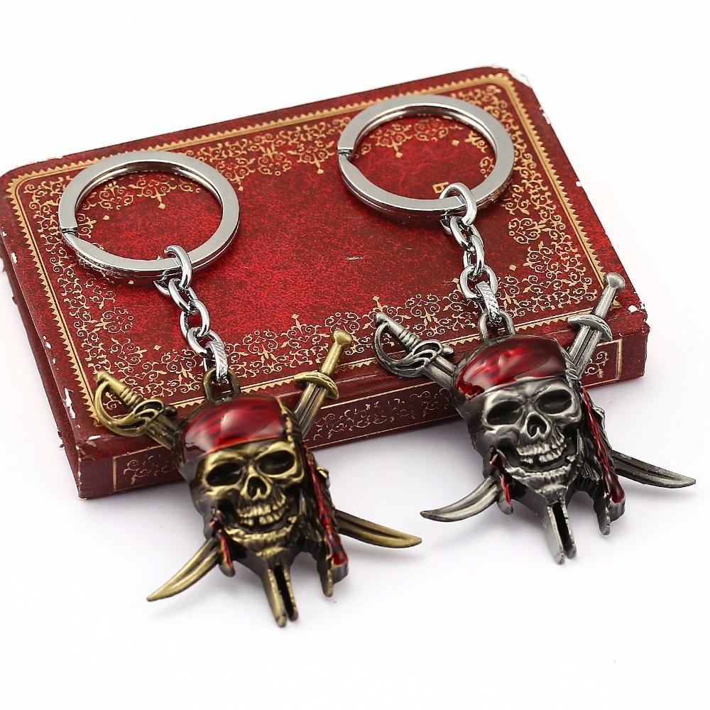 Jolly Roger Flag Pirate Keyring Skull /& Crossbones Key Ring