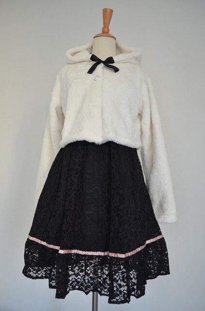 japanese style all match woollen beige color women coat jacket soft sister sweet girl princess short jacket in winter