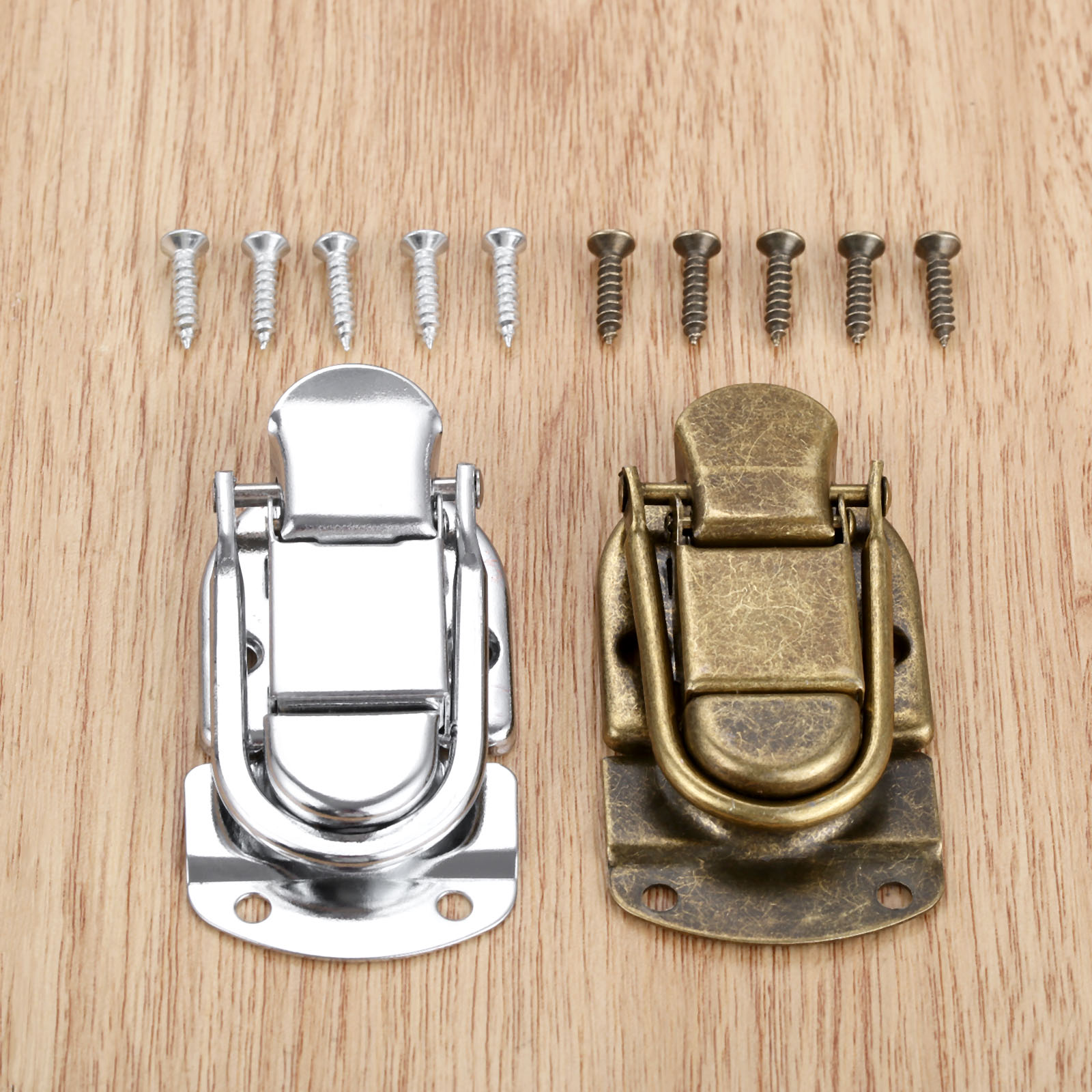 DRELD 1Pc 67*34m Vintage Metal Lock Chest Box Gift Box Suitcase Case Buckles Toggle Hasp Latch Catch Clasp Furniture Hardware
