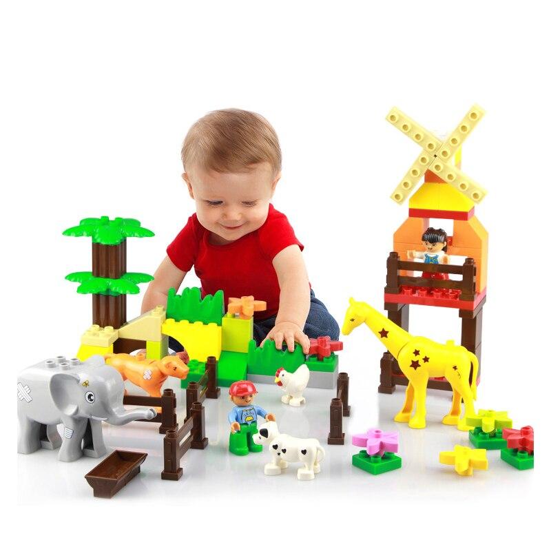 Modèle blocs de construction enfants jouet Legoed blocs girafes Animal jardin maison en plastique chien modèle jouets pour enfants cadeau Toy0263