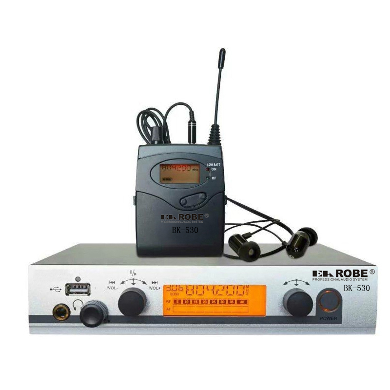EAROBE BK-530 Monitoring System, Wireless in ear Monitor Professional for Stage Performance, Church ukingmei uk 2050 wireless in ear monitor system sr 2050 iem personal in ear stage monitoring 2 transmitter 2 receivers