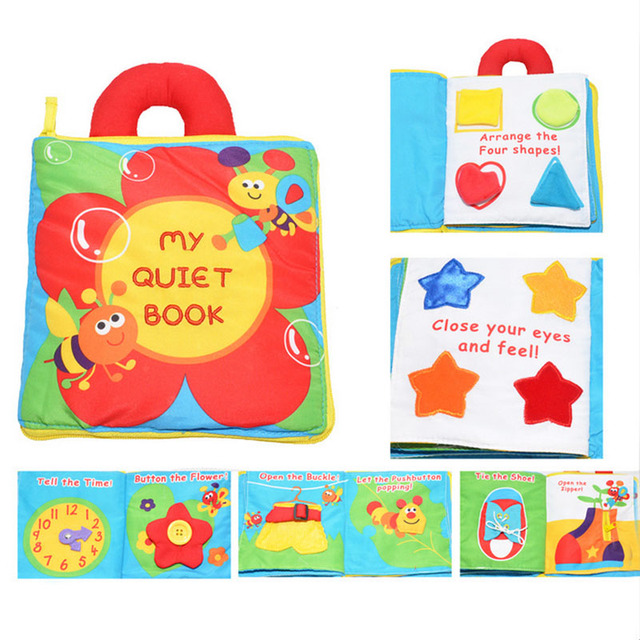 1PC New Arrival Soft Baby Toys Infant Kids Cloth Books Puzzle Toys Baby Rattles Learning Education Toys Creative