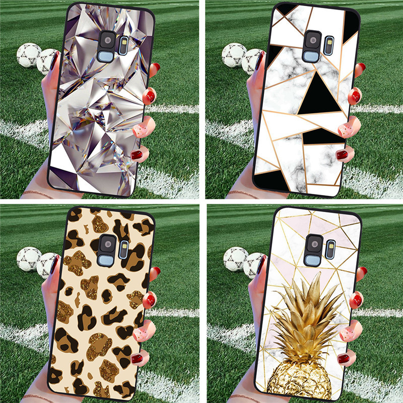 Leopard marble For <font><b>Samsung</b></font> Galaxy S6 S7 Edge S8 S9 S10 S10e Plus Lite Note 8 9 10 <font><b>A30</b></font> A40 A50 A60 A70 M10 M20 phone Case Cover image