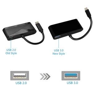 Image 4 - USB C adaptateur HDMI VGA Type C vers HDMI 4K Thunderbolt 3 pour Samsung Galaxy S8 Huawei Mate 10 pour Xiaomi Air USB C HDMI