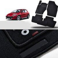 6pcs Premium Auto Fabric Nylon Anti slip Floor Mats Carpet For Peugeot 307 2012 2019