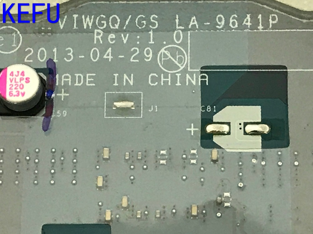KEFU SUPER  NEW FREE SHIPPING VIWGQ /GS LA-9641P Laptop Motherboard for Lenovo G510 Notebook PC COMPARE BEFORE ORDER 216-0841000 la 5972p for lenovo ideapad g555 laptop motherboard ddr2 free shipping 100% test ok