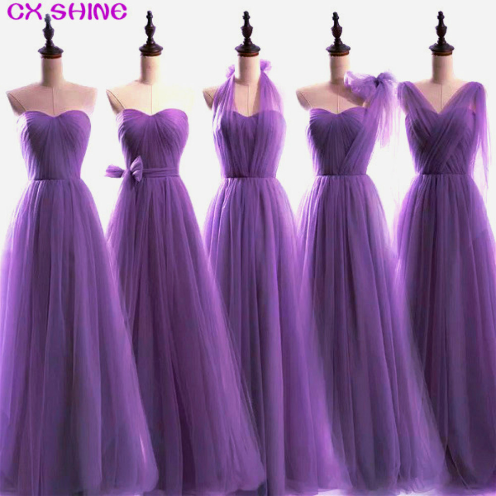 CX SHINE Custom Color&Size New 100 colors Convertible   Dress   long   bridesmaid     dresses   wedding Prom party   dress   women Plus robe