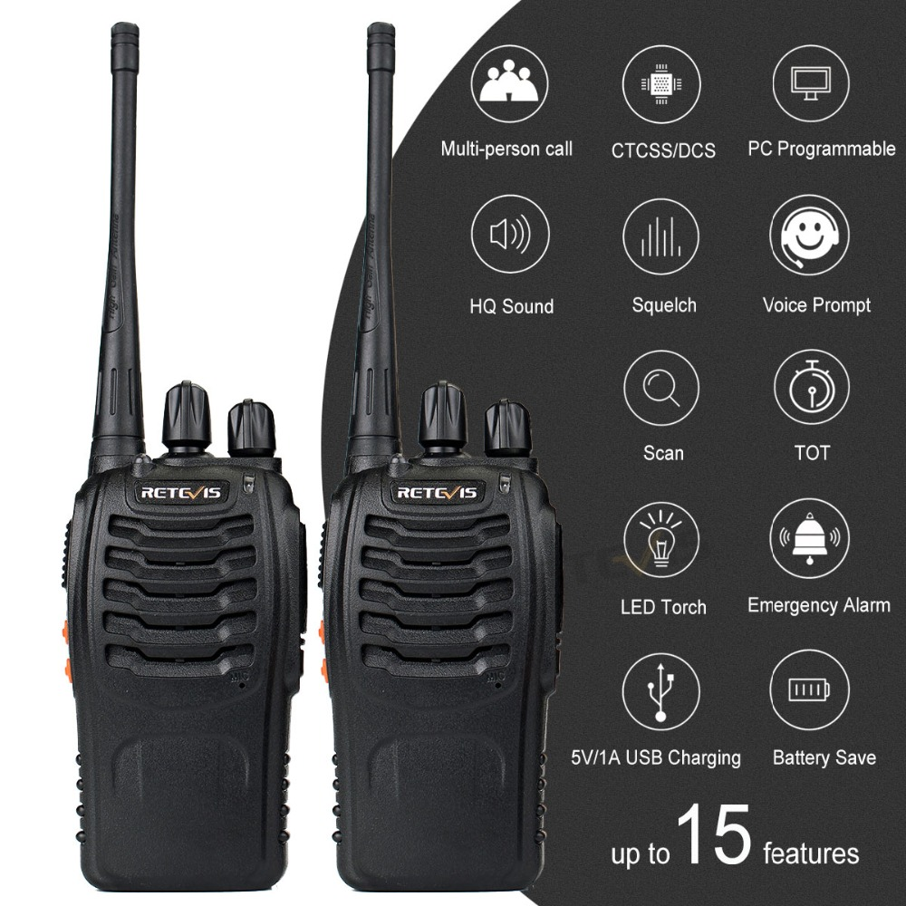 2 st Retevis H777 Portabel Walkie Talkie 16CH UHF 400-470MHz - Walkie talkie - Foto 4