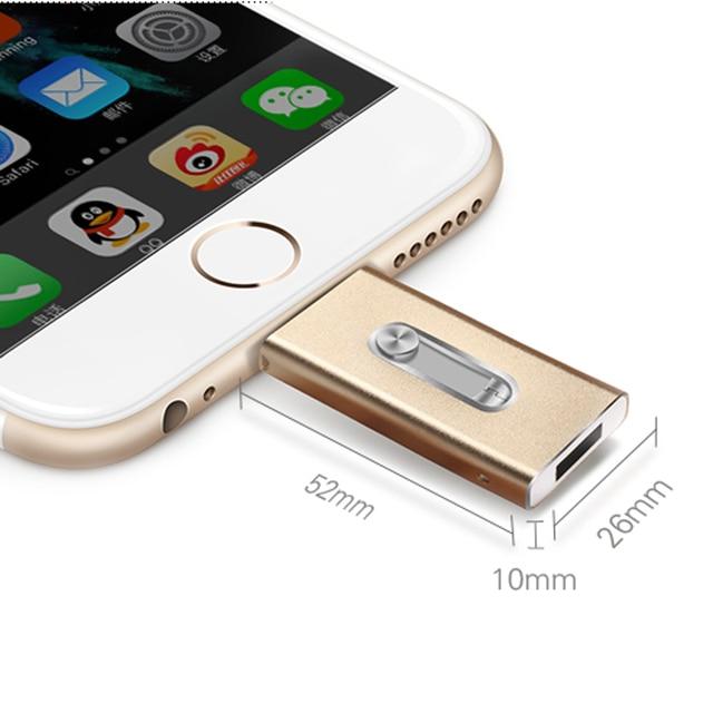 BINCHU IOS Usb Flash Drive 8 ГБ 16 ГБ Usb Stick 32 ГБ Ручка Drive 64 ГБ 128 ГБ OTG Внешние Накопители Для iphone 5/6/7 Плюс/для ipad