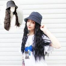 Парик+ головной убор, набор из одного предмета, новейший стиль, женская шляпа от солнца с кудрявыми волосами, парики из человеческих волос, солнцезащитные шапки для женщин