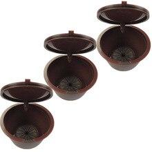Многоразовые кофейные капсулы для Dolce Gusto, 3 шт. в упаковке, заполняемые пластиковые капсулы могут использоваться 150 раз, совместимы с Dolce Gusto