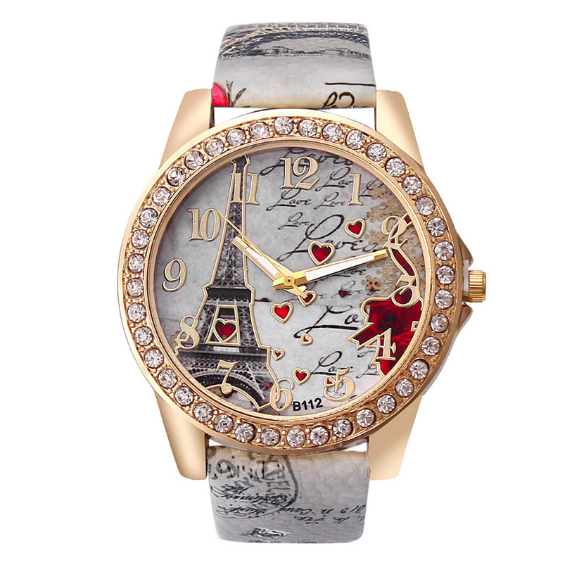 OTOKY Perfect Gift Tower Pattern Leather Band Analog Quartz Vogue Wrist Watches  July19P30 H0 fabulous 2016 quicksand pattern leather band analog quartz vogue wrist watches 11 23