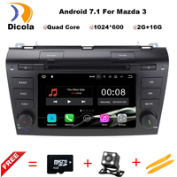 1024X600 Android 5 1 1 Quad Core Car DVD Player For Mazda 3 Mazda3 2004 2005