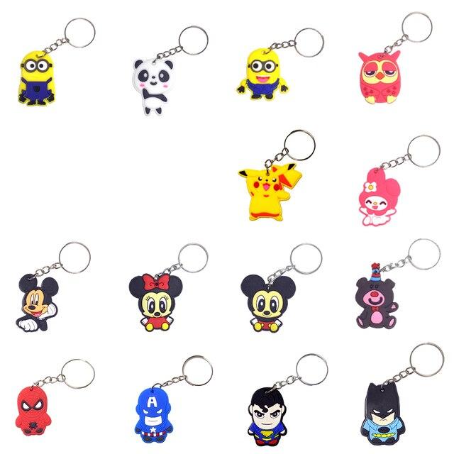 Coruja Dos Desenhos Animados PVC Marvel Anel Chave Da Corrente Chave Mini Figura Anime Minnie Crianças Brinquedo Pingente Chaveiro Key Holder Moda Encantos
