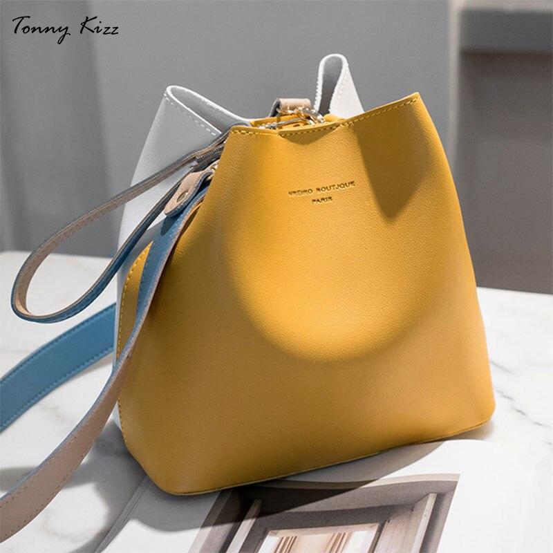 Tonny kizz panelled sacos para as mulheres ombro bolsa de couro feminino crossbody sacos de grande capacidade das senhoras sacos de mão cor amarela