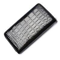 2018 Fashion Real Crocodile Pattern Coin Purses Card Holder Genuine Leather Men Long Wallets Men's Alligator Long Clutch Bags
