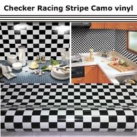 Stickerbomb Vinyl Wrap Checker Racing Stripe Camo Vinyl Camouflage Vehicle Wrap 1.52*30m/roll