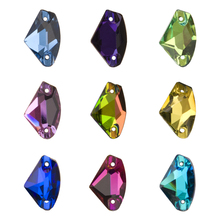 YANRUO 3256 Galactic Sew On Crystal Flat Back Rhinestone Applique Strass Sewing Glass Stones For Craft